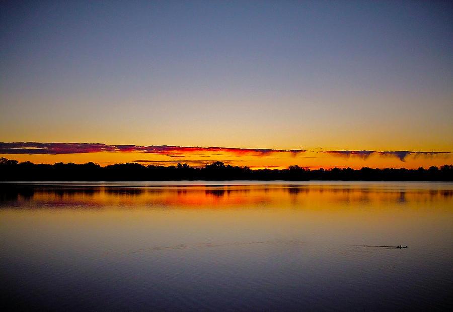 Kanada Photograph - Sunrise On Riviere Des Mille-iles by Juergen Weiss