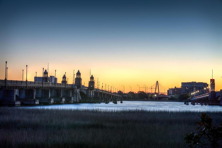 Ashley River Photograph - Sunrise On The Ashley River by Walt  Baker