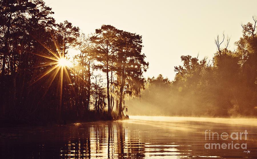 Morning Photograph - Sunrise On The Bayou by Scott Pellegrin