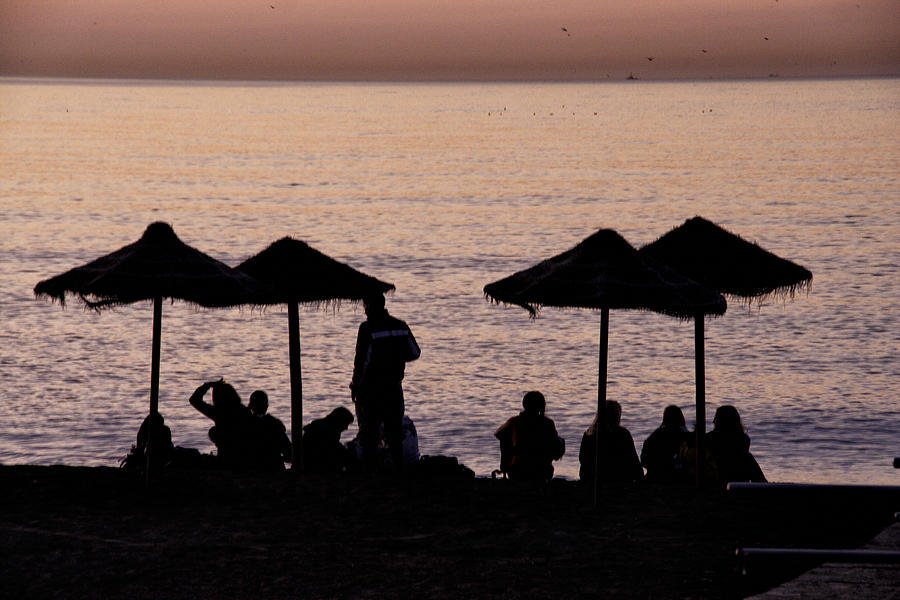 Beach Photograph - Sunrise on the beach after a night out by Goyo Ambrosio