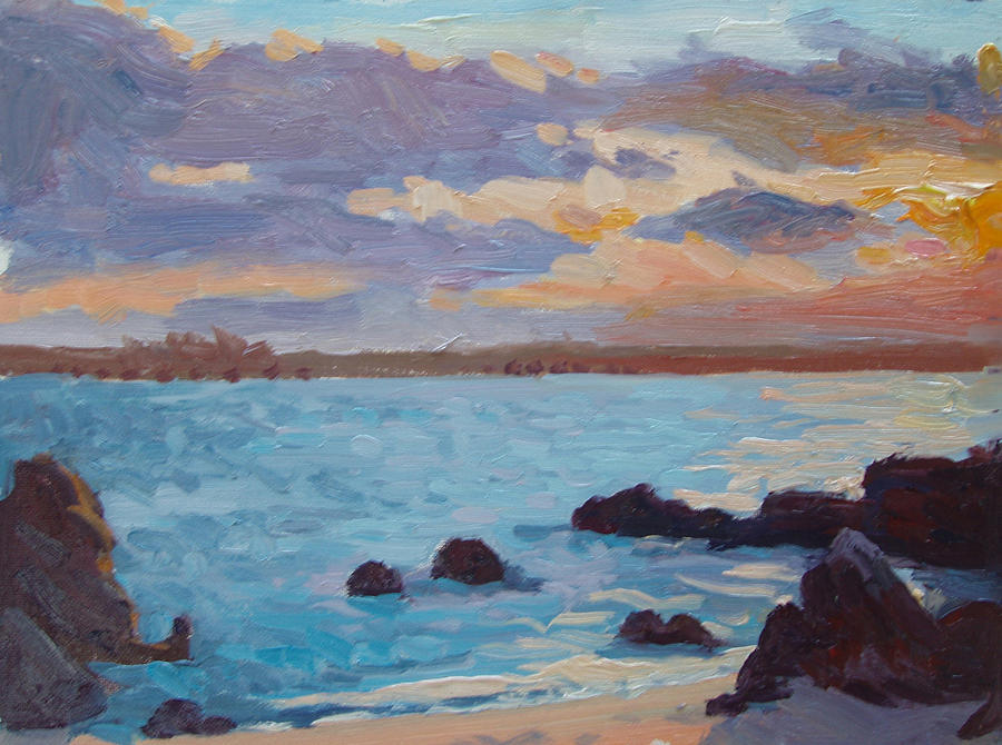 Grotto Painting - Sunrise On The Grotto by Dianne Panarelli Miller