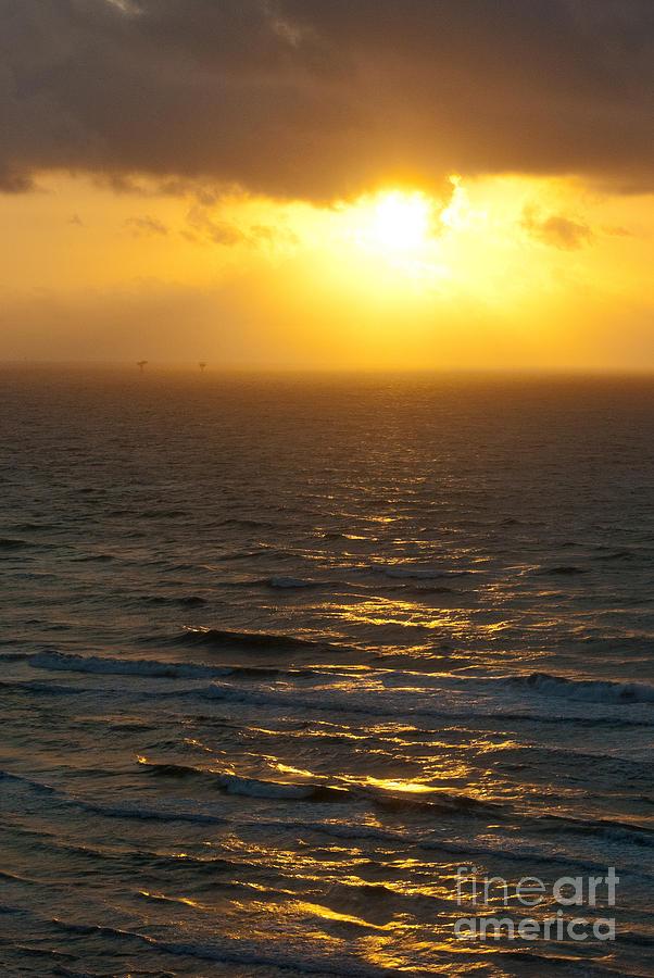 Sunrise Photograph - Sunrise On The Gulf by Barbara Shallue