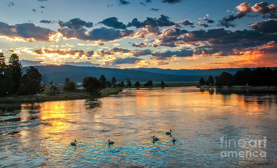 Cascade Photograph - Sunrise On The North Payette River by Robert Bales