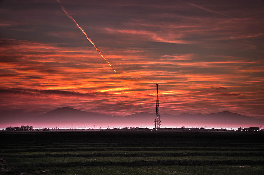 Bakersfield Photograph - Sunrise Over Bear Mountain by Connie Cooper-Edwards