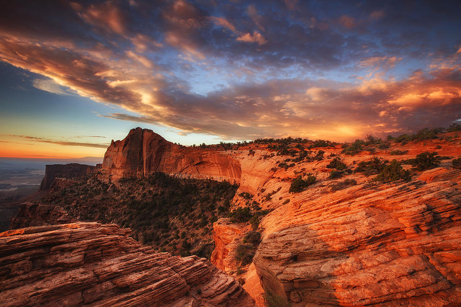 Sunrise Photograph - Sunrise Over Canyonlands by Darren  White