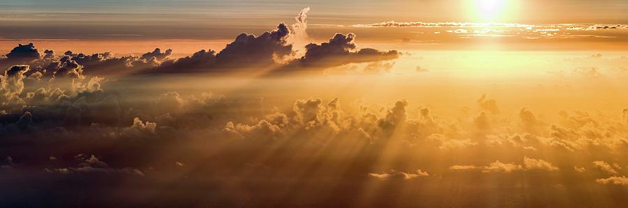 Nobody Photograph - Sunrise Over Clouds by Babak Tafreshi/science Photo Library