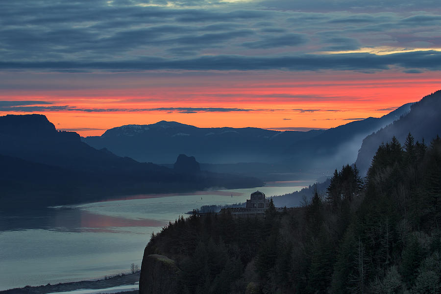 Sunrise Photograph - Sunrise Over Crown Point by David Gn