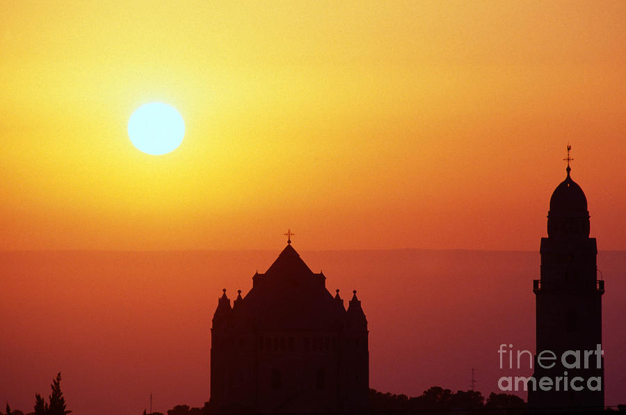 Israel Photograph - Sunrise Over Jerusalem by Thomas R Fletcher