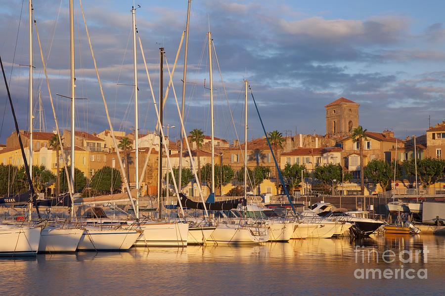Boats Photograph - Sunrise Over La Ciotat France by Brian Jannsen