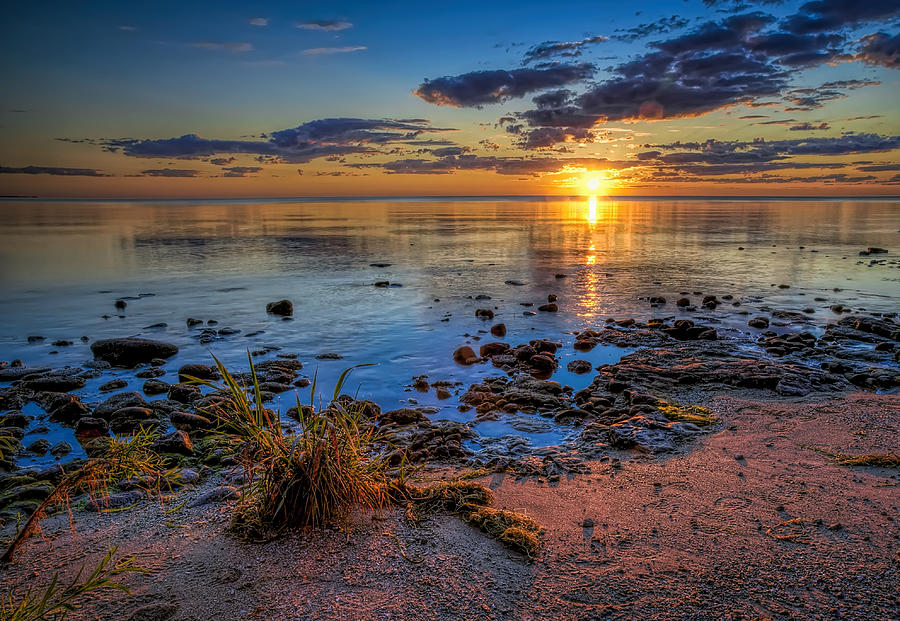 Sunrise Over Lake Michigan Photograph
