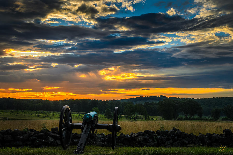 Battlefield Photograph - Sunrise Over Little Round Top by Pat Scanlon