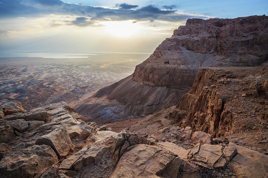 Sunrise Over Masada Photograph by Reynold Mainse / Design Pics
