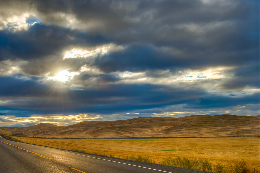 Road Photograph - Sunrise Over Palouse Road by Chris McKenna