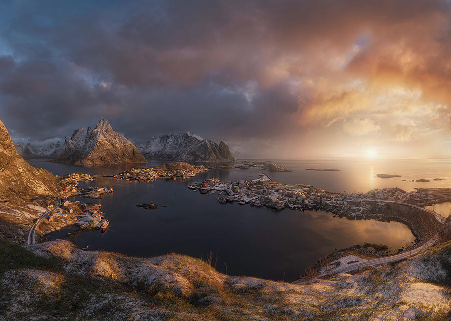 Sunrise Over Reine Photograph by Inigo Cia