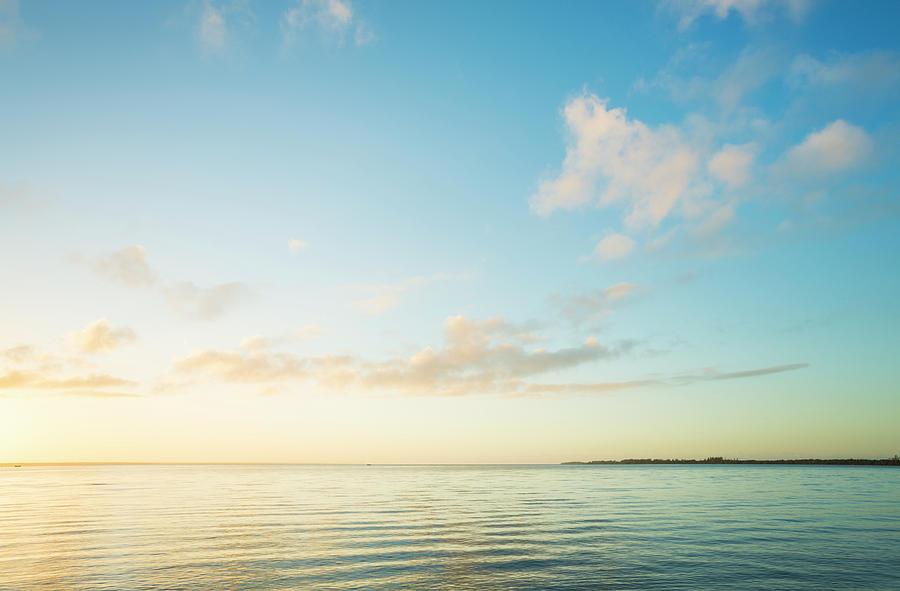 Sunrise Over Sea Photograph by Spooh
