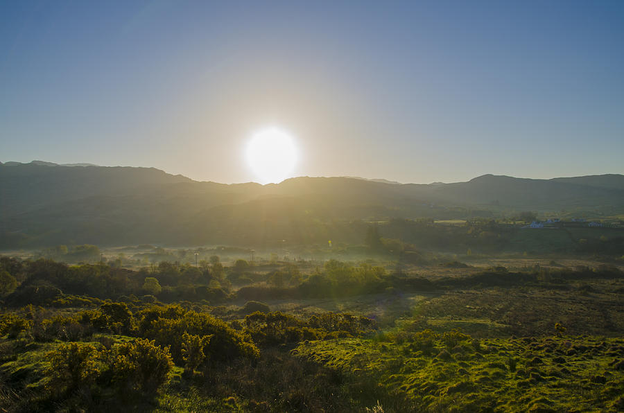 Sunrise Photograph - Sunrise Over The Bluestack Mountains - Donegal Ireland by Bill Cannon