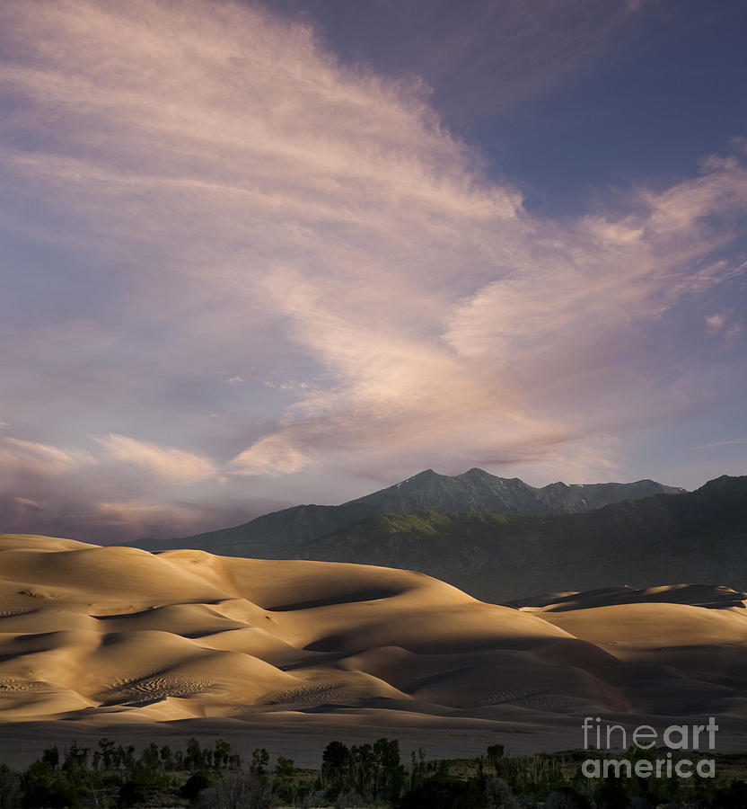 Sand Photograph - Sunrise Over The Great Sand Dunes by Keith Kapple