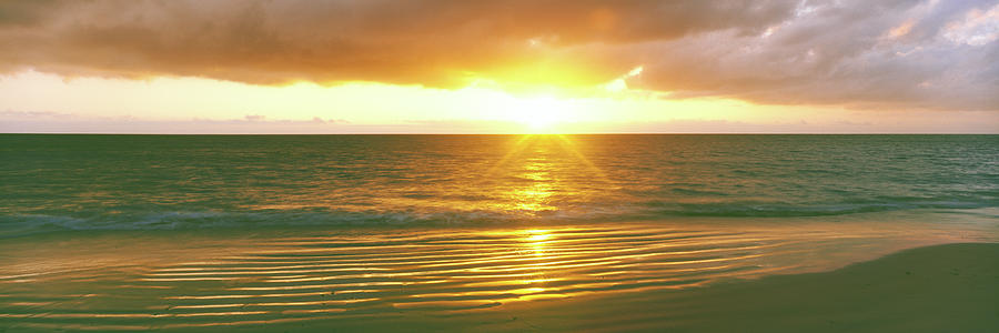 Horizontal Photograph - Sunrise Over The Pacific Ocean, Cabo by Panoramic Images