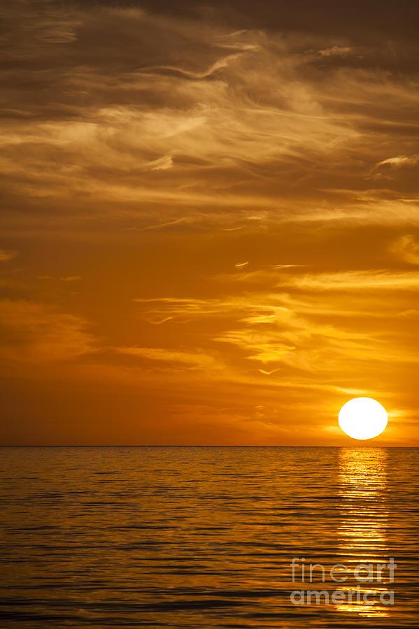 Sunrise Photograph - Sunrise Over The Sea Of Cortez by Liz Leyden