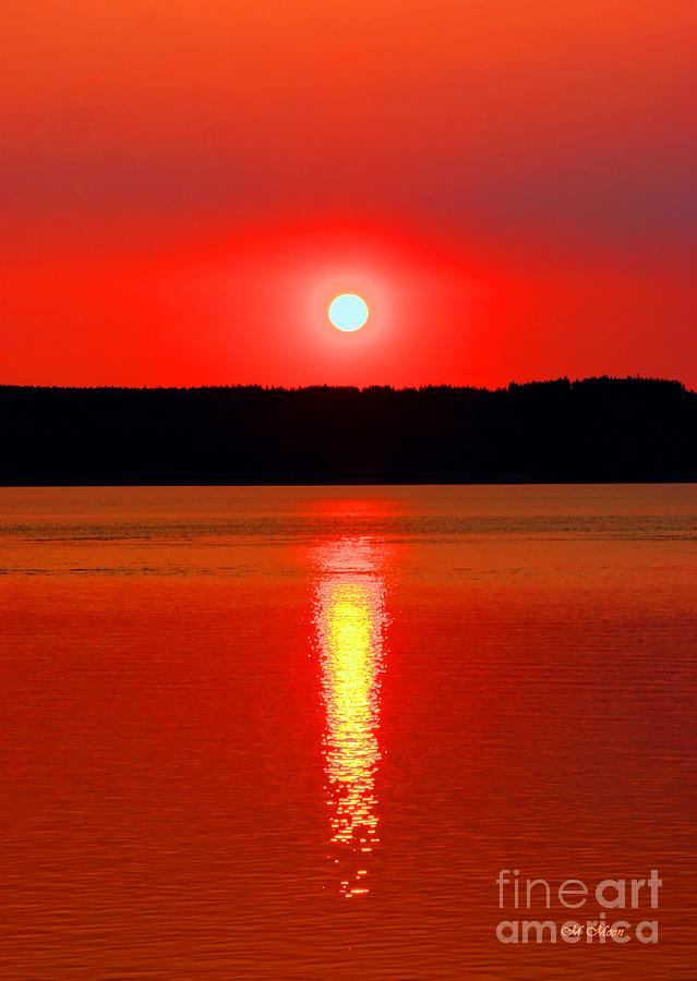 Water Photograph - Sunrise Over Whidbey Island by Tap On Photo