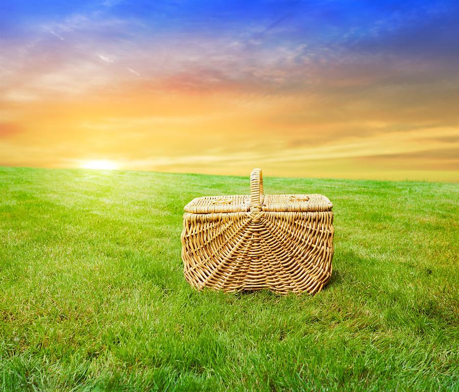 Picnic Photograph - Sunrise Picnic Basket by Jo Ann Snover
