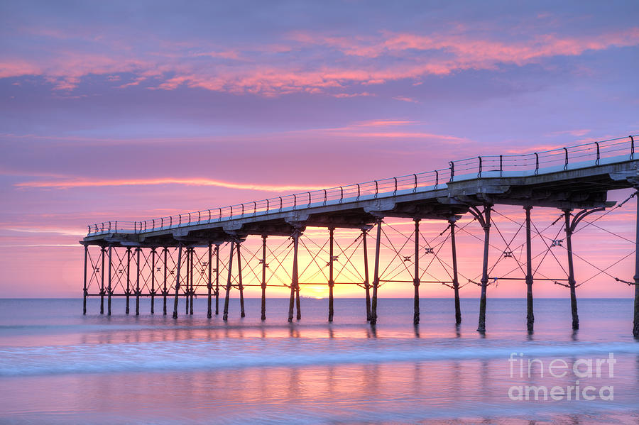 Cleveland Photograph - Sunrise Pier by Colin and Linda McKie