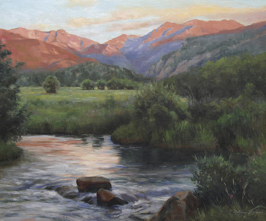 Rocky Mountains Painting - Sunrise Rocky Mountain National Park by Anna Rose Bain