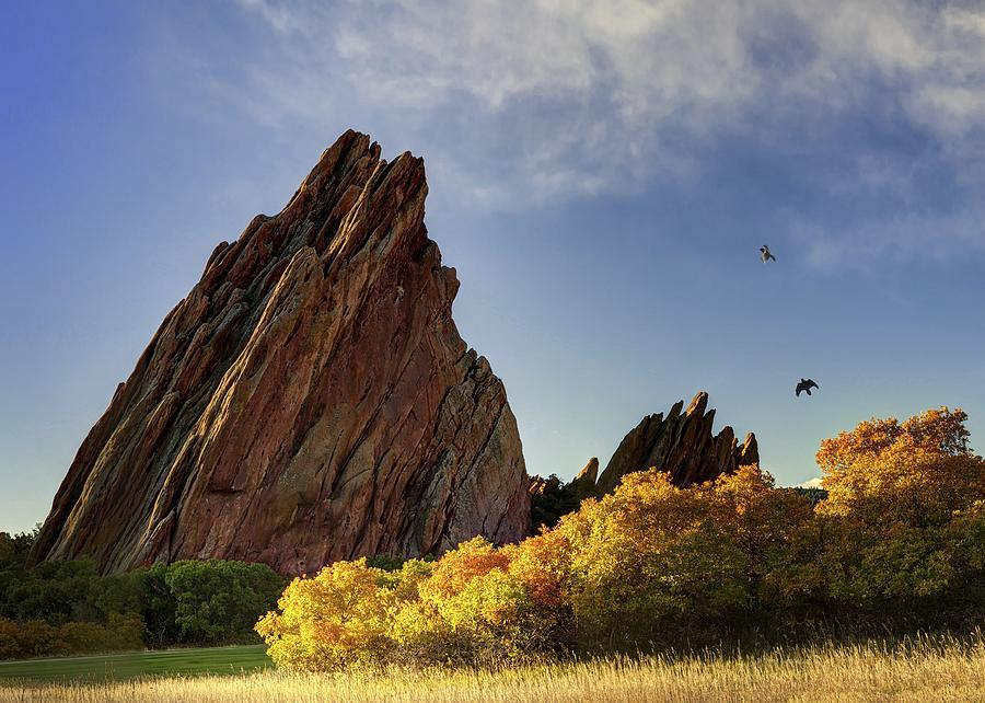 Sunrise Photograph - Red Rock by OLena Art Brand