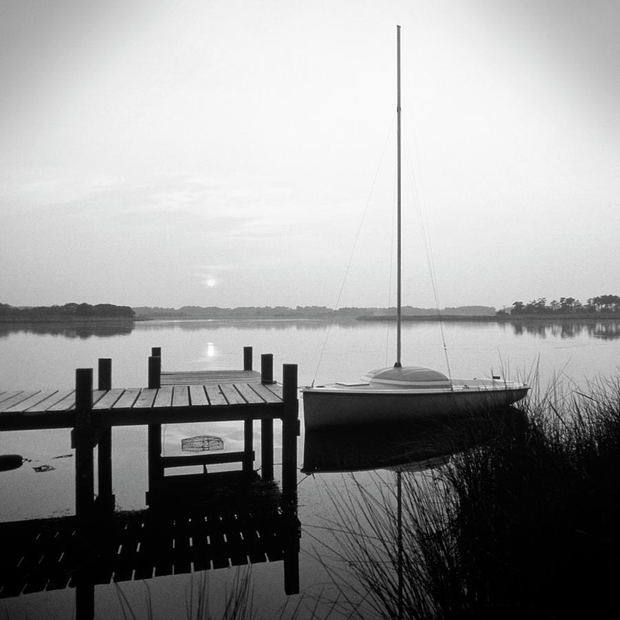 Sail Boat Photograph - Sunrise Sail Boat by Mike McGlothlen