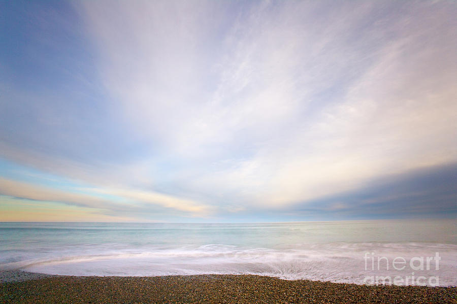 Sunrise Surf South Island Photograph by Yva Momatiuk John Eastcott
