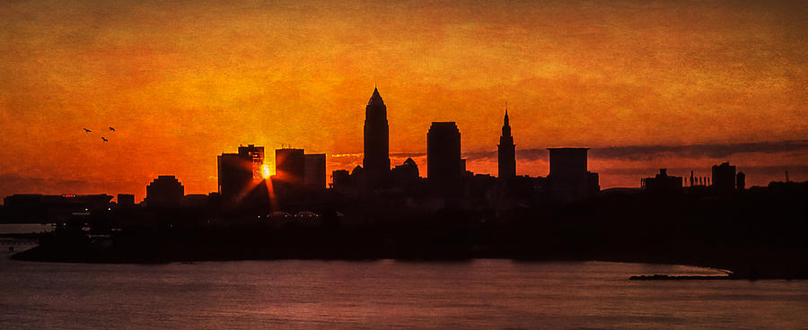 Cleveland Photograph - Sunrise Through The City by Dale Kincaid