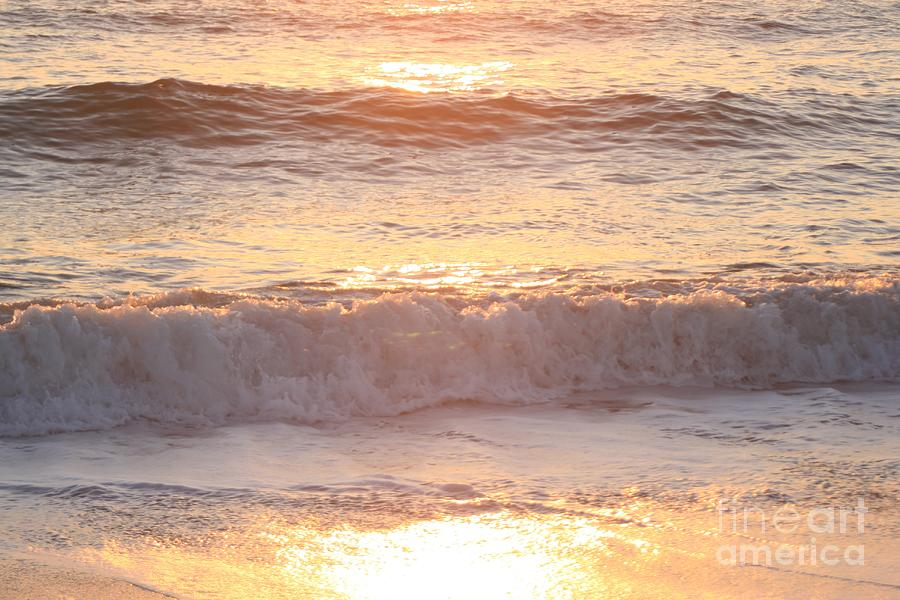 Waves Photograph - Sunrise Waves by Nadine Rippelmeyer