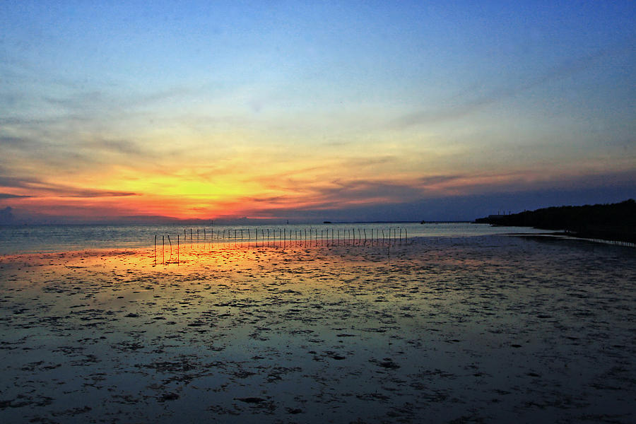Sunset Photograph - Sunset @ Bangpuu by Suradej Chuephanich