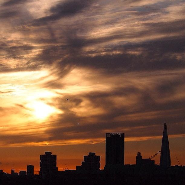Igers Photograph - Sunset & London Skyline 5th April 2013 by Neil Andrews