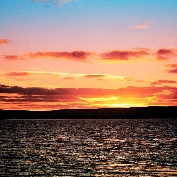 Sea Photograph - Sunset - Orkney Islands by Luisa Azzolini