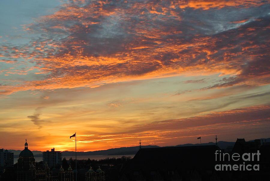 Sunset  - Victoria BC by Sharron Cuthbertson