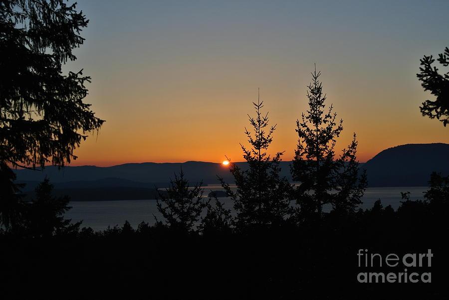 Sunset 1 - Lively Peak by Sharron Cuthbertson