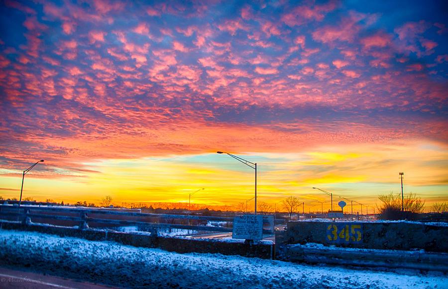 Sunset Photograph - Sunset 1-3-14 Northern Illinois 001 by Michael  Bennett