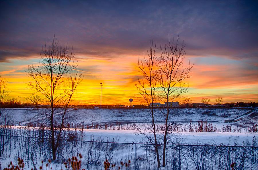 Sunset Photograph - Sunset 1-3-14 Northern Illinois 003 by Michael  Bennett