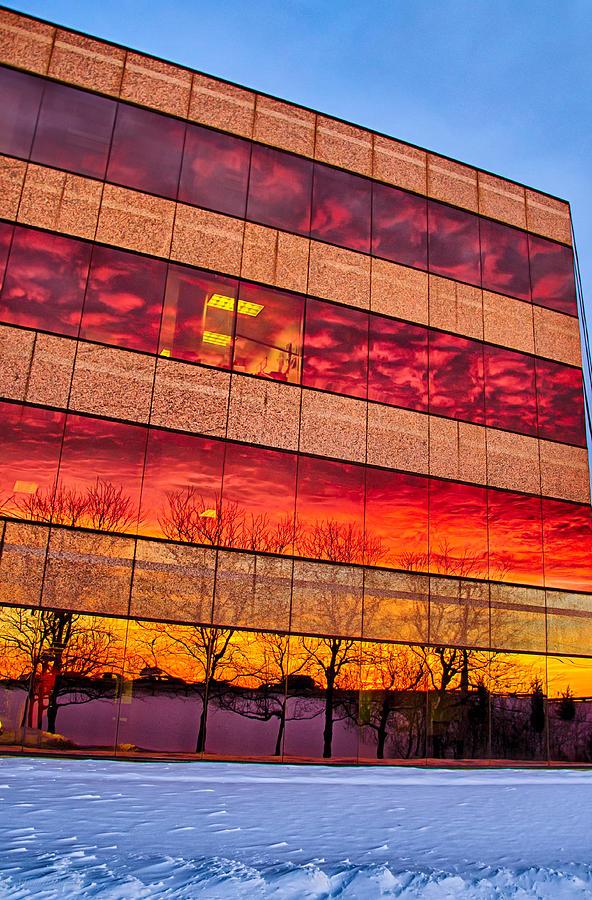 Sunset Photograph - Sunset 1-3-14 Northern Illinois 004 by Michael  Bennett