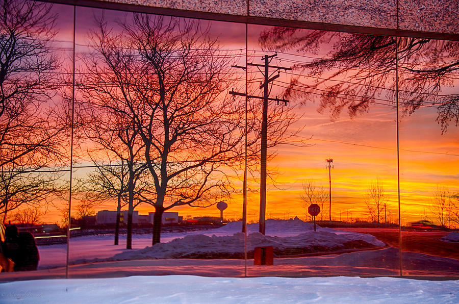 Sunset Photograph - Sunset 1-3-14 Northern Illinois 005 by Michael  Bennett