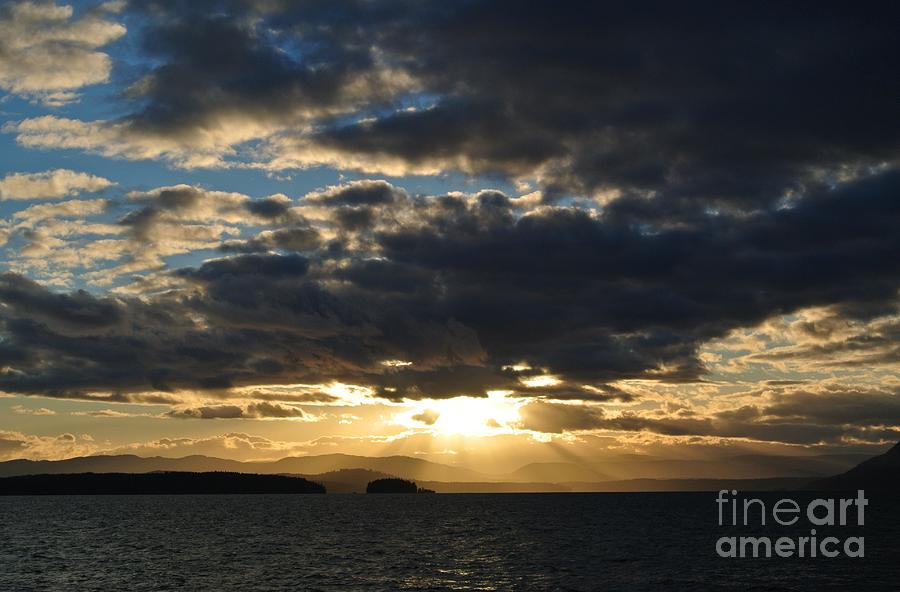Sunset 2 - Thieves Bay by Sharron Cuthbertson