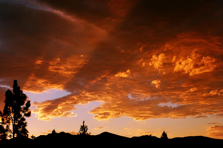 Mountain Sunset Photograph - Bitterroot Sunset by Jim Cotton