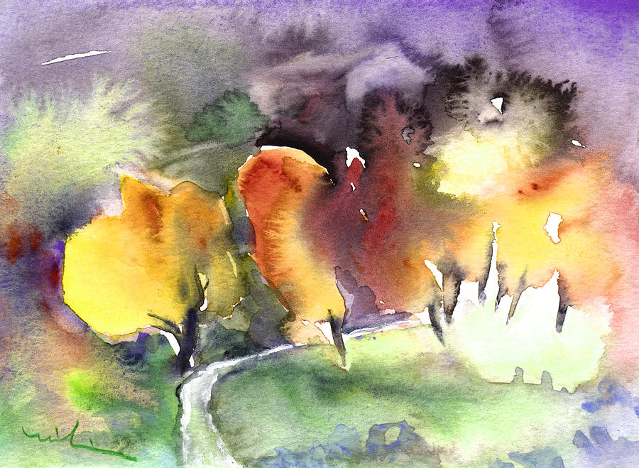 Trees Painting - Sunset 49 by Miki De Goodaboom