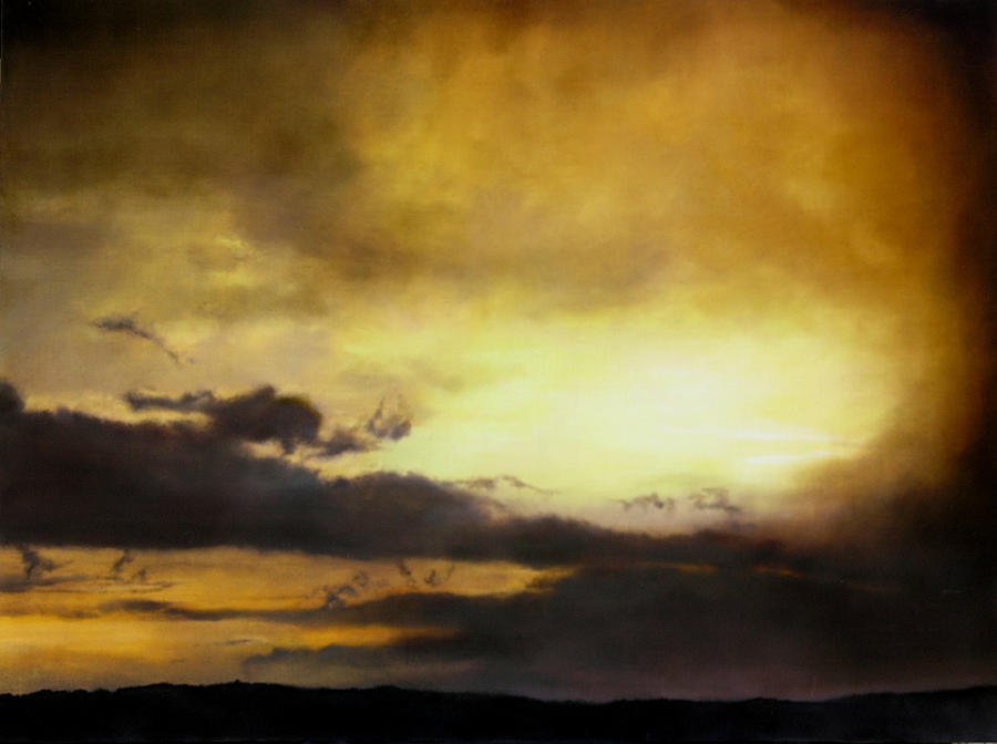 Sunset Painting - Pouzol Sunset 92 X 122cm by Thomas Darnell