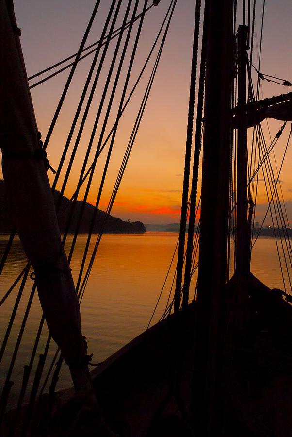 Sunset Aboard the Nina by Wayne Stacy