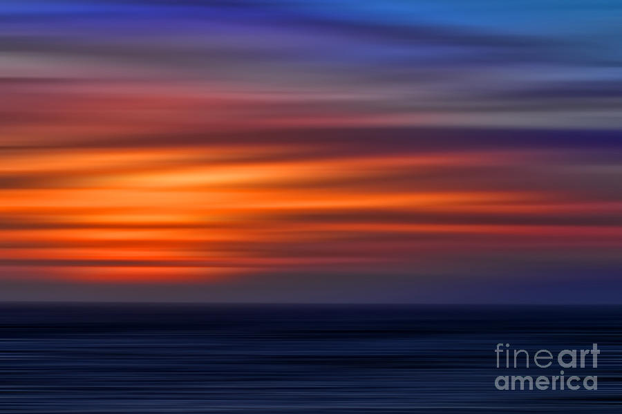 Abstract Photograph - Sunset Abstract by Clare VanderVeen