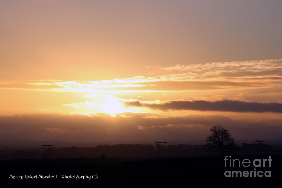 Sunset Photograph - Sunset Across The Wolds by Merice Ewart