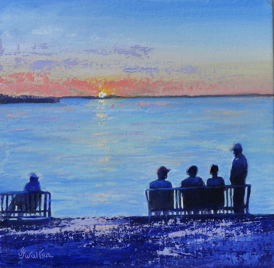 Sunset Painting - Sunset And Shadows by Judy Fischer Walton
