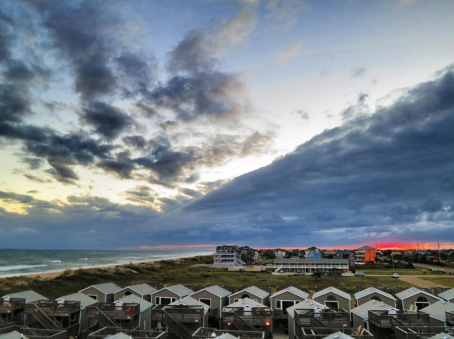 Sunset And Storm Clouds Cape Hatteras Photograph
